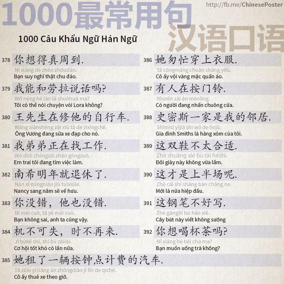 1000 Câu Khẩu Ngữ - Phần 25: