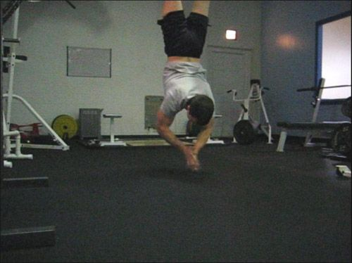Clapping Handstand Push Ups!!!