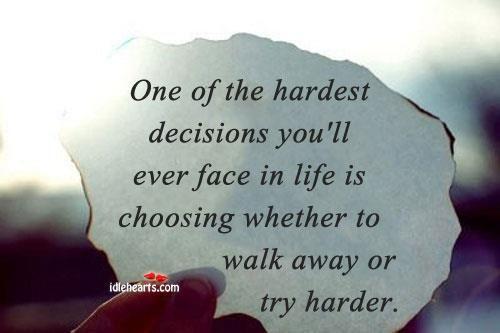 Hardest decision EVER.