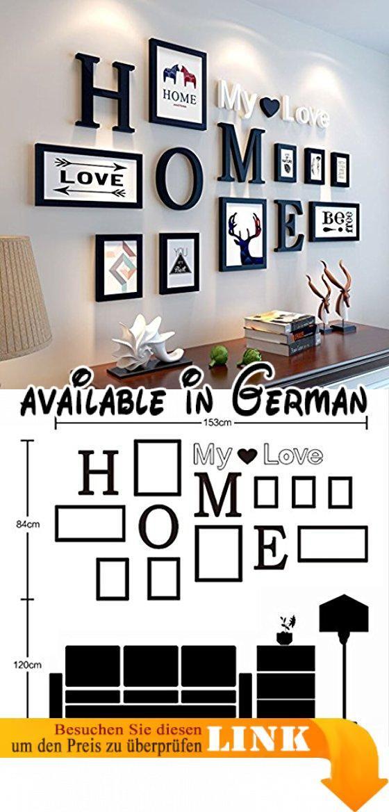 Foto Wandrahmen 9 Teile / satz DIY Bilderrahmen Sets Für Wand ...