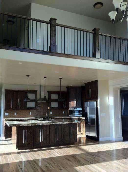 20 Artistic Deck Railing Ideas For Inspiration Zeltahome Com House Plan With Loft Loft Railing Kitchen Design Open