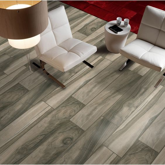 Gbi tile stone inc kaden walnut glazed porcelain indoor for Indoor outdoor wood flooring
