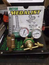 Victor Equipment Co. Welding  Gas Regulator Original Brass Gauges Torch