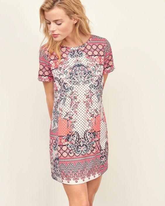 Womens - Crepe Shift Dress   Womens - New Arrivals   eu.Abercrombie.com