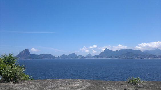 O Rio de Janeiro, visto de NIterói, Brasil