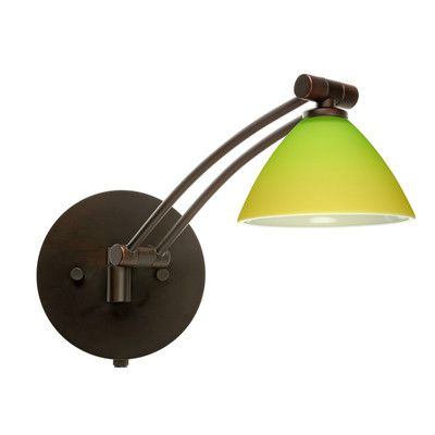Lighting Tenant Webstore: Domi Swing Arm Wall Sconce Finish: Satin Nickel, G...