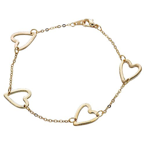 Open Heart Linked Chain Bracelet $3.00