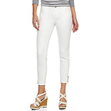 a.n.a® Ankle-Zip Skinny Jeans - JCPenney | Trend We Love: White