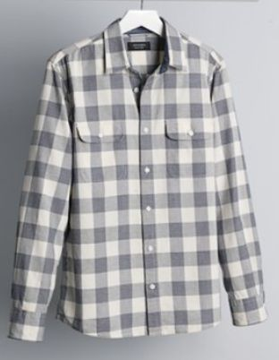 trim fit buffalo check sport shirt