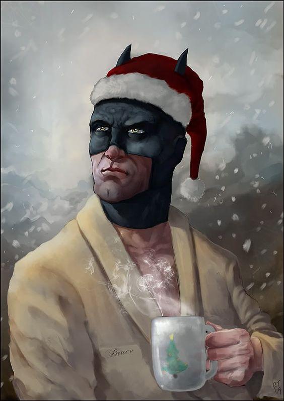 Batman Christmas card. | nerd | Pinterest | Batman, Comic and Catwoman