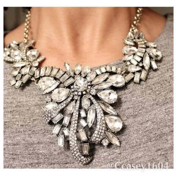 Vintage Crystal Corsage Statement Necklace  This is a stunning piece . A vintage looking statement necklace . Wear and you will most definitely  be the center of attention with this incredible piece on . Thanks ladies! Jewelry Necklaces