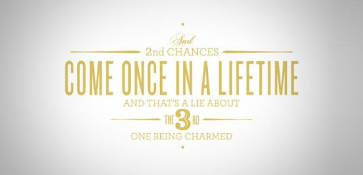 : Chance Lifetime, 3Rd Charm, Graphic Design Art, 2Nd Chances, Typography Time, Typography Inspiration, Type Fonts, I Heart Typography