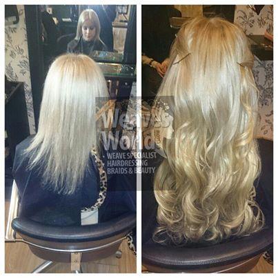 4 track blonde beauty <3 #blonde #weave #trackweave #weaves #curlyhair