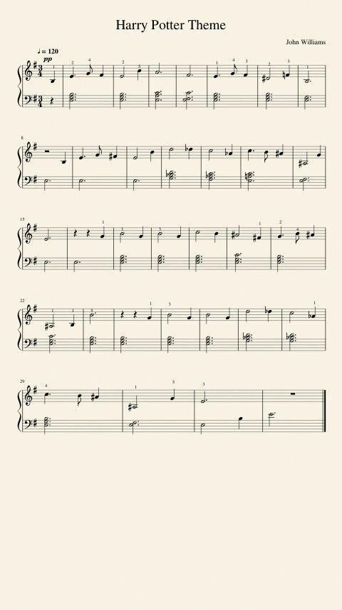 How To Read Piano Sheet Music With Images Harry Potter Music