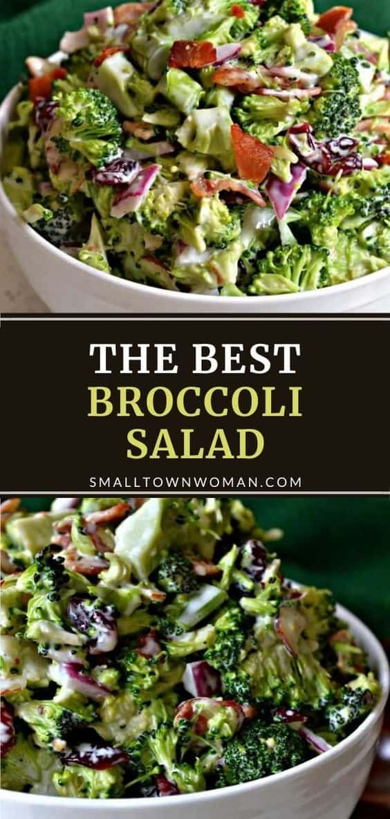 Broccoli Salad Recipe In 2021 Broccoli Salad Broccoli Salad Bacon Easy Broccoli Salad