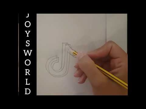 How To Draw The Tik Tok Logo Drawing Step By Step Tutorial Tiktok Step By Step Drawing New Year Card Making Happy New Year 2020