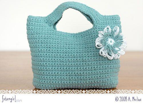 Aqua crochet bag - gorgeous and free pattern