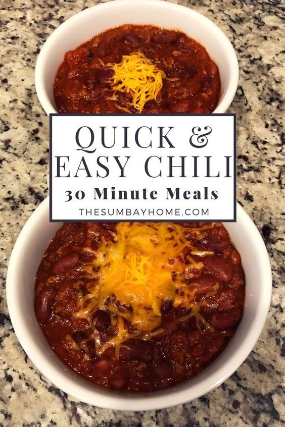 Quick and Easy Homemade Chili Recipe - The Sumbay Home %