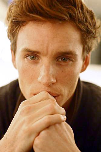 Eddie Redmayne - I don't think I've ever seen so many freckles in my life. I love it.