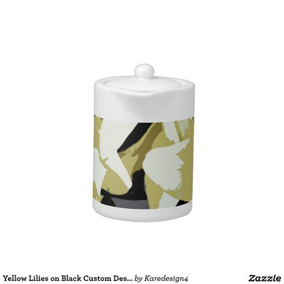 Yellow Lilies on Black Custom Design