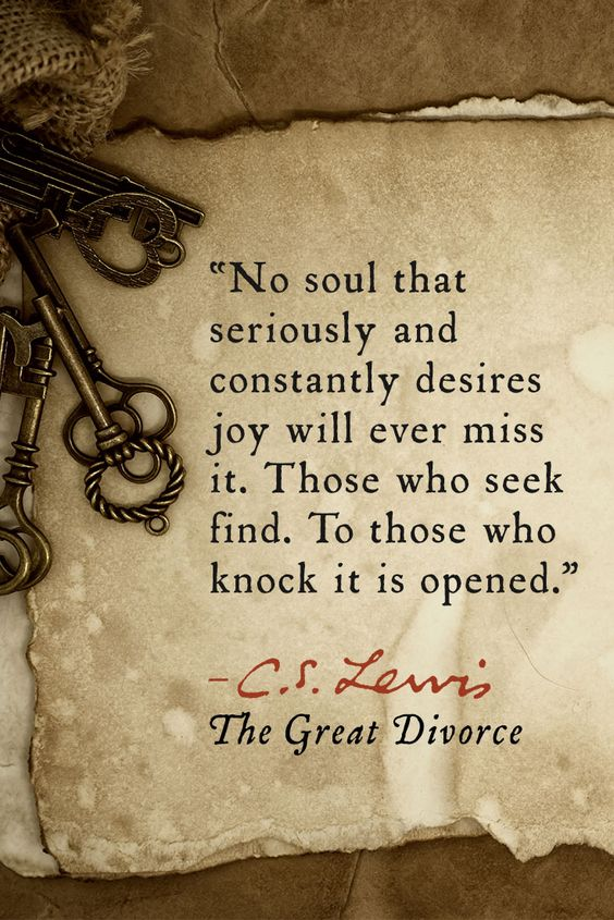 from The Great Divorce by C.S. Lewis: