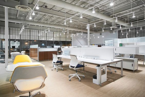 rockford business interiors open office plan steelcase frame one benching furniture office