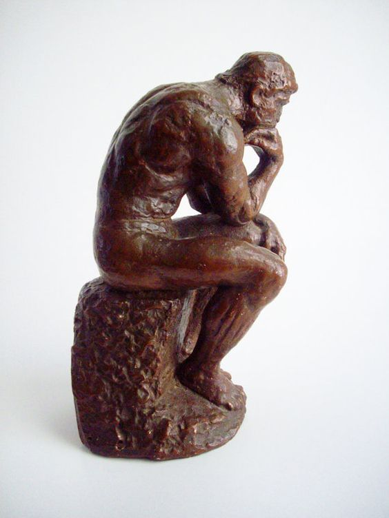 Vintage Sculpture The Thinker Austin Productions Inc 1962