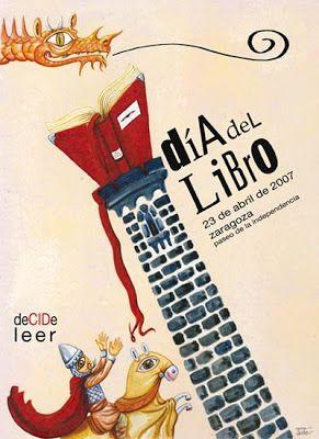 cartel día del libro zaragoza 2007: