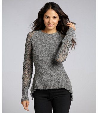 Pretty-- Walter grey knit 'Wendy' flared hem sweater  SS