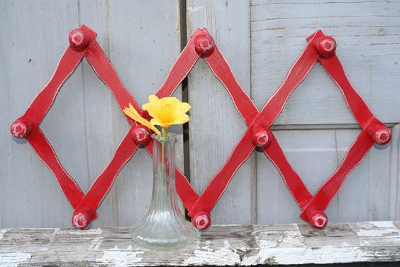 Peg Rack  Wall Decor  Farmhouse Chic  Wooden  by CrownWillow, $12.00