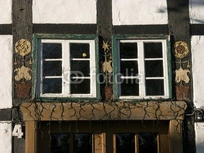 Fachwerk am Bartholdskrug in Oerlinghausen bei Bielefeld am Teutoburger Wald in Ostwestfalen-Lippe