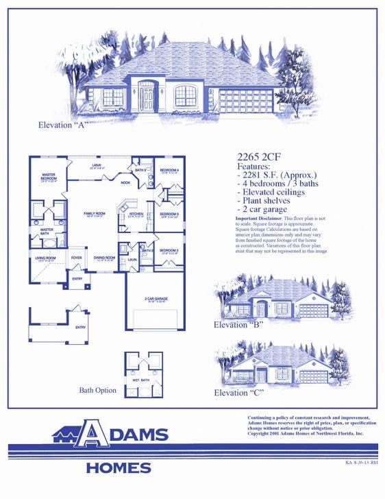 First Home Builders Of Florida Floor Plans In 2020 Floor Plans How To Plan Adams Homes