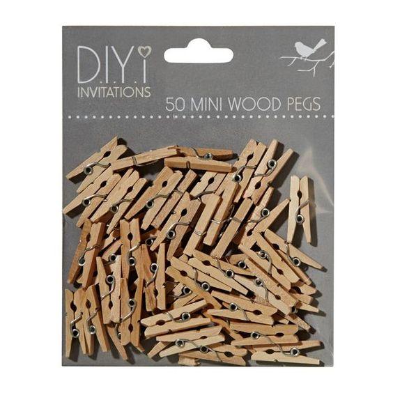 DIYi Mini Wood Pegs 50 Pack image