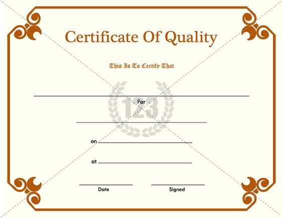 certificate of quality pdf free download 123certificate