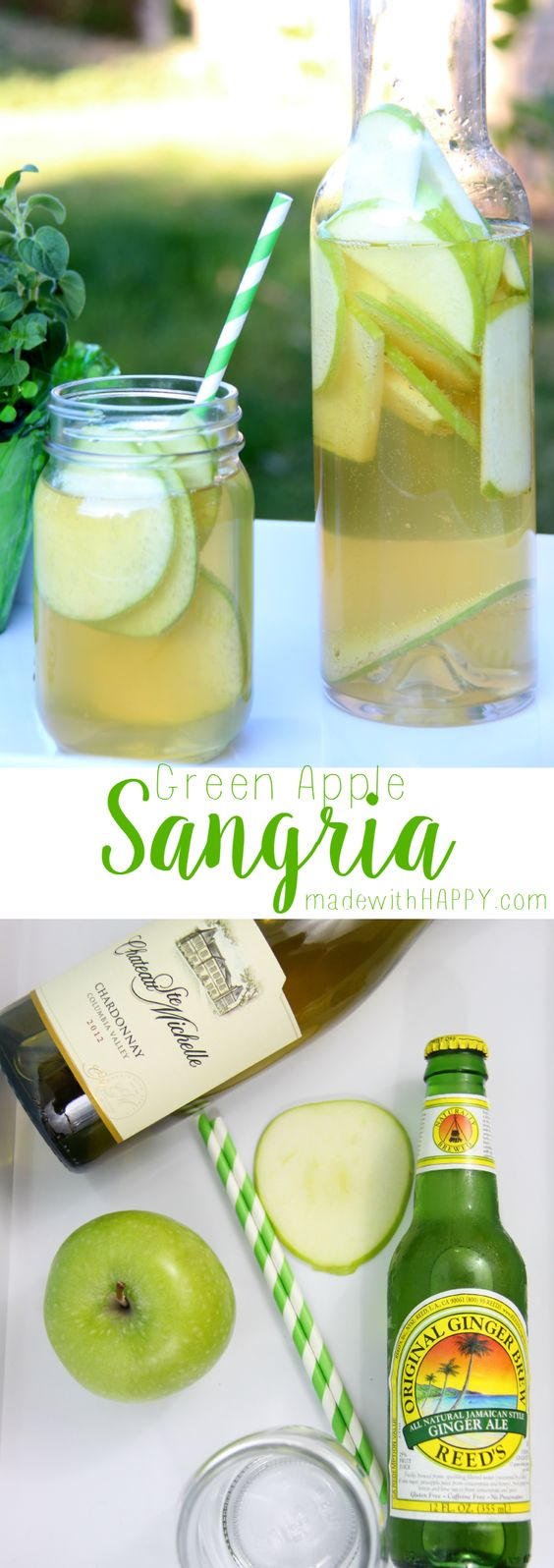Green apple sangria apple sangria sangria and apples for Green apple mixed drinks