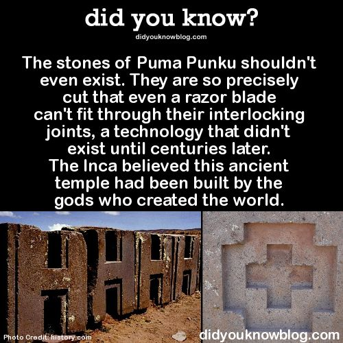 The stones of Puma Punku shouldn even exist. They are so precisely cut that even a razor blade cant fit through their interlocking joints, a technology that didnt exist until centuries later. The Inca believed this ancient temple had been built by the gods who created the world.