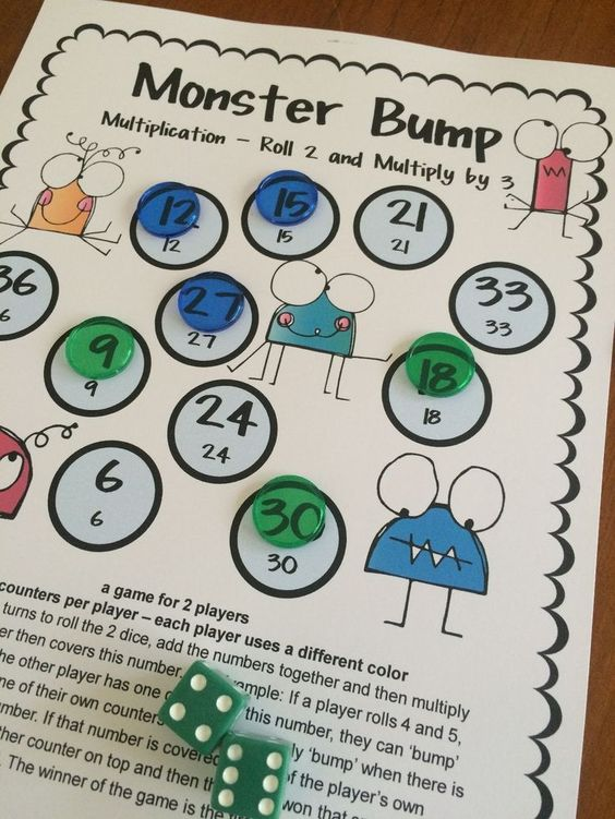 how to play bump math game