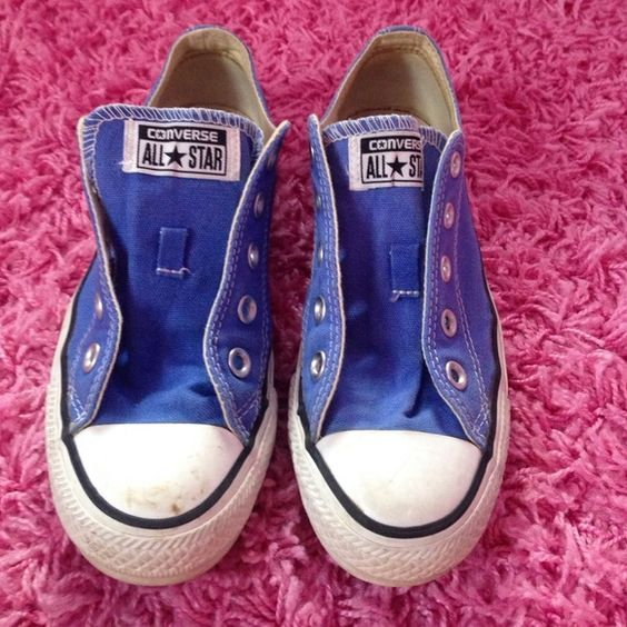 Converse shoes They are new converse I have worn them like 1 I'm gonn bleach the dirty parts and put new white laces in them Converse Shoes