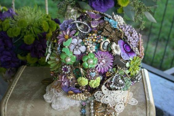 Ramos de Novia sin flores. Imagenes de Fantasy Floral Designs.