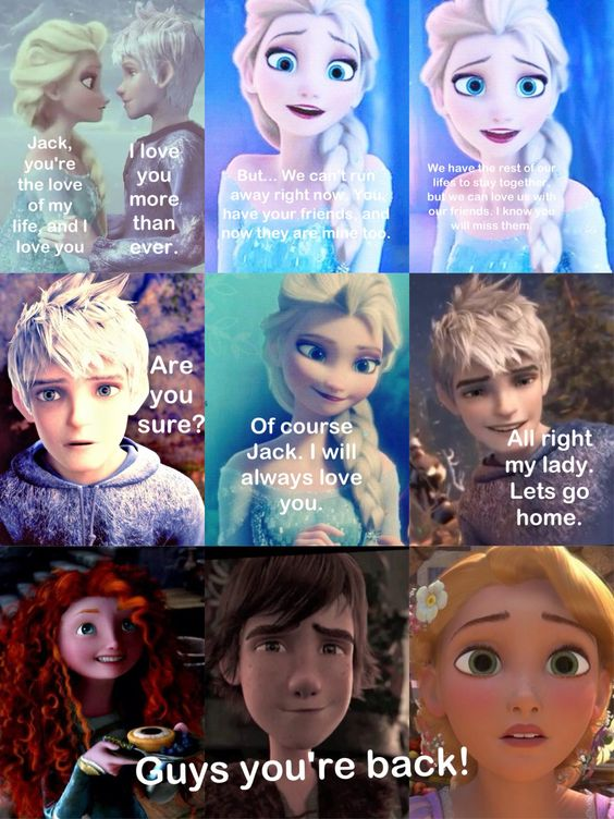 jack frost and hiccup meet elsa