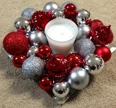 Red/silver candle display