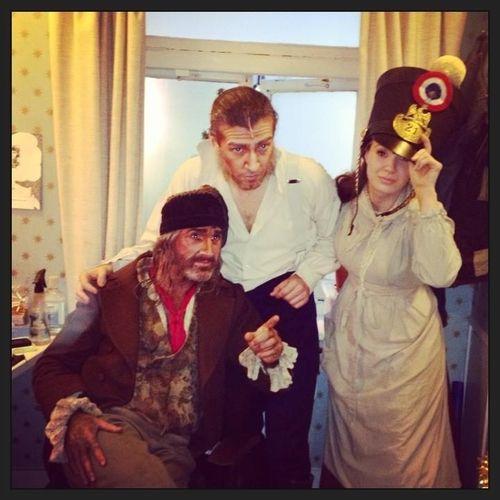 Tam Mutu, Sierra Boggess, & (?)   Hmm  A Convict, Javert, And A