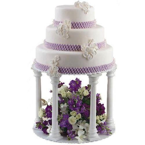 Wilton Wedding Cake Plate Stand Column Pillars Tier SET OR Fountain