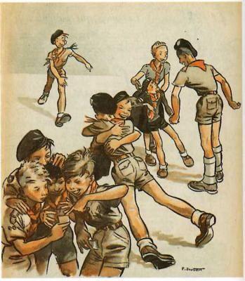 Scouts by artist Pierre Joubert 54