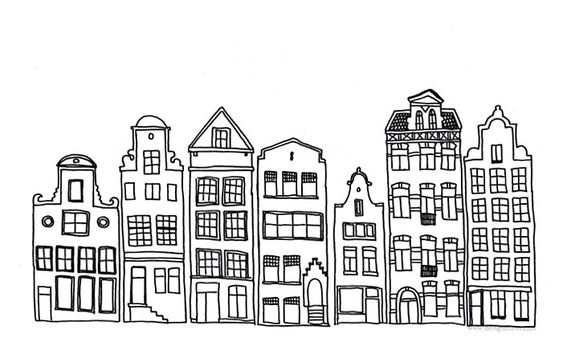 city drawing black and white simple - Google Търсене