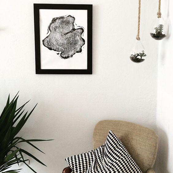 Wall art that speaks volumes #lintonart #treeringprints #Treelovers #interiorart #hotelart #apartmenttherapy #Officedesign #giftsforhim #giftsforher #etsyseller