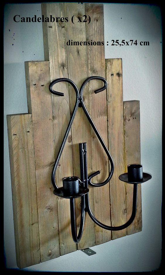 2 candélabres en bois recyclé  30$ l'un 55$ les deux #diy #palet #palette #bois #wood #woodwork #atelier #studio #Montréal #tools #outils