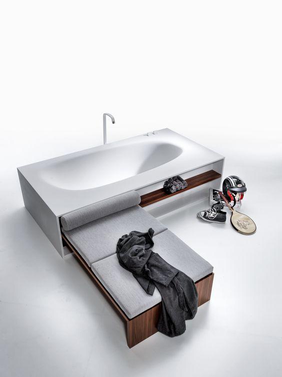 Contemporary Vasca Freestanding Bathtub by Falper