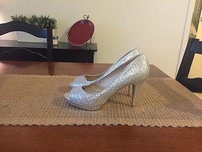 Aldo Women's Silver high heels size 8.5