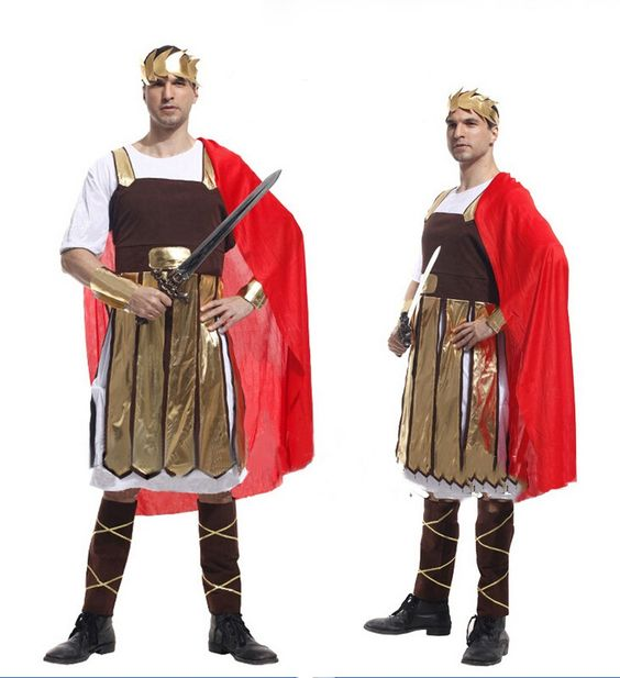 Heroic Warrior Costumes King Prince Performance Clothing Halloween Adult Cosplay Outfits